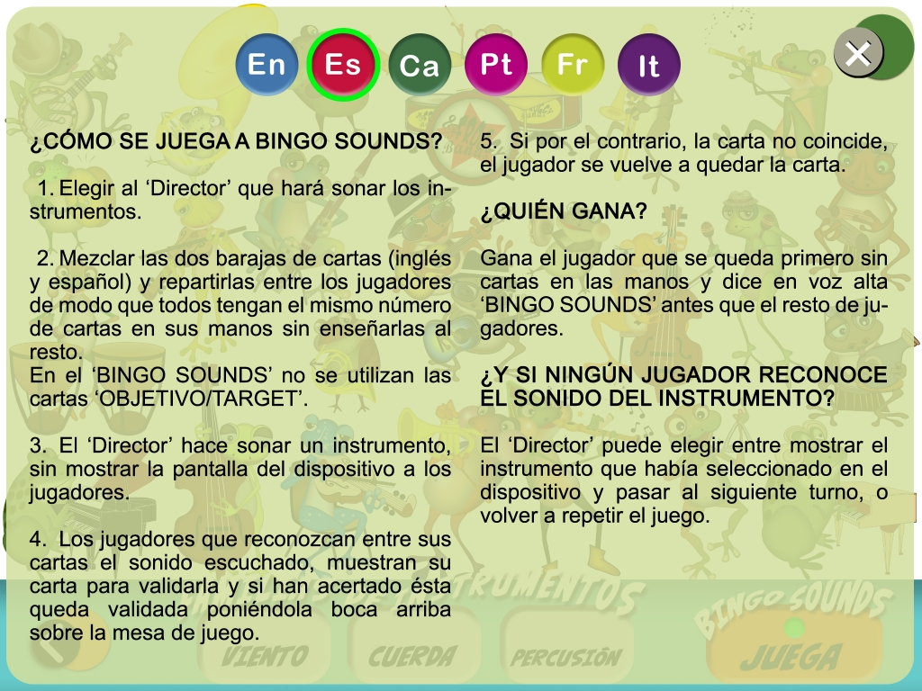 Bingo Sounds_reglas del juego musical